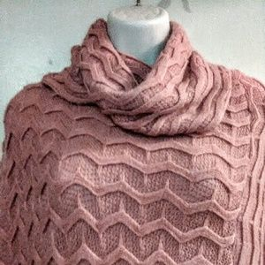 Sweaters - Cable Knit Sweater Pancho